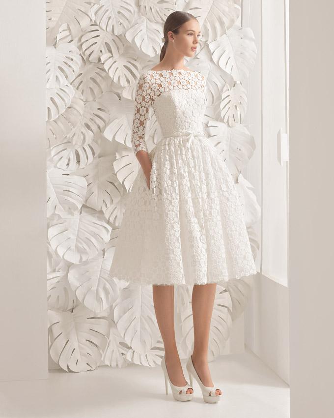Vestidos de novia cortos con encaje