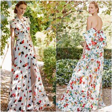 Vestidos floreados para boda en jardin