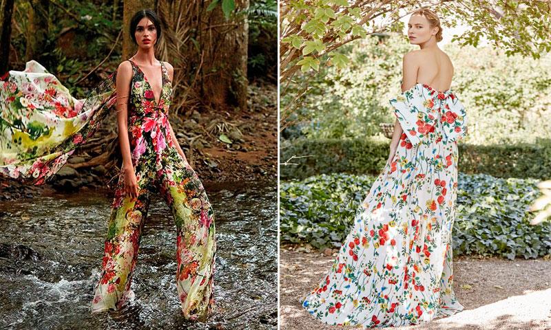 f1b09f3f18 vestidos de fiesta con flores para las invitadas de 2017 ...