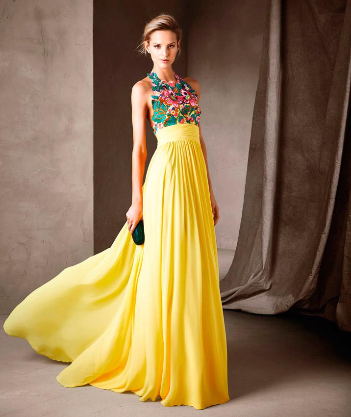 Modelos de vestidos largos para boda de dia