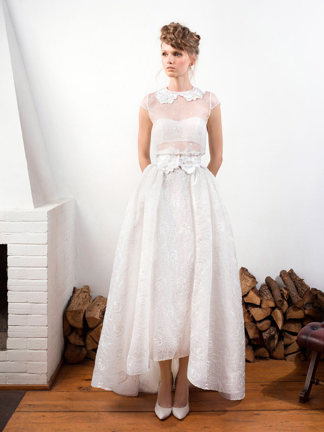 Vestidos novia civil moderno