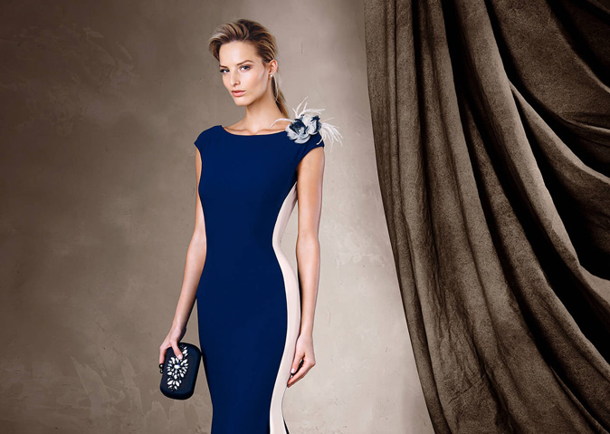 El corte sirena de Pronovias también es tendencia en los vestidos de fiesta