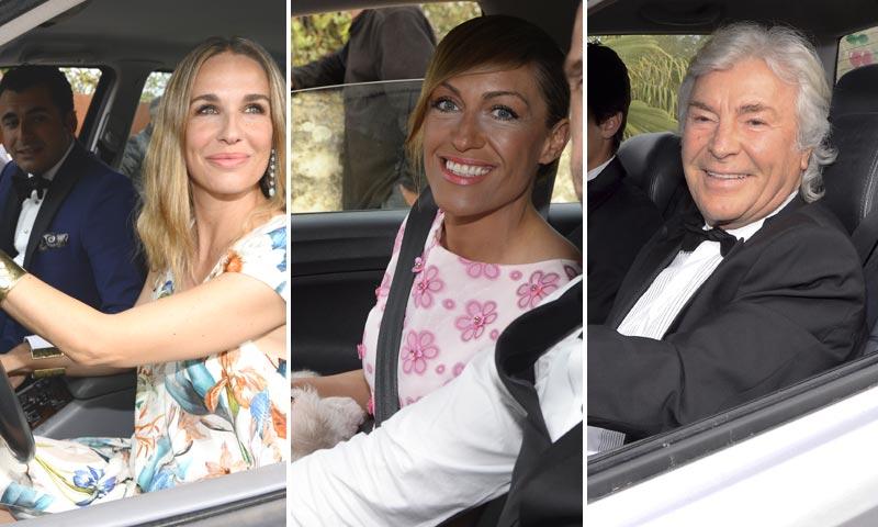 La llegada de los invitados a la boda de Fonsi Nieto y Marta Castro