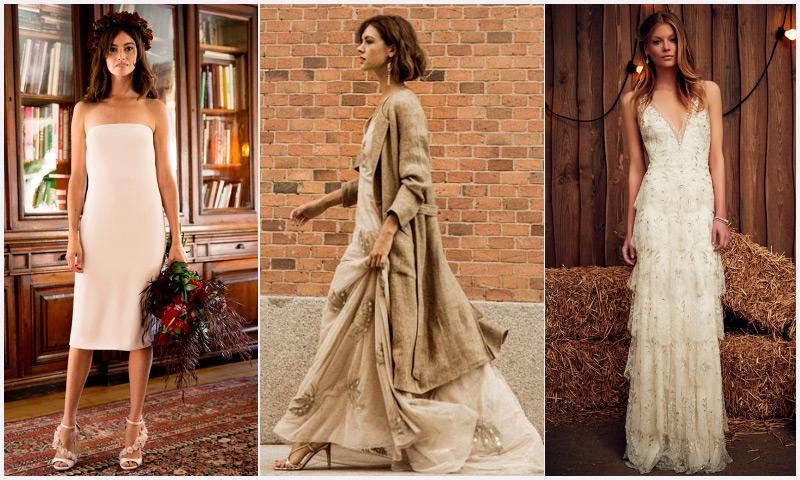 vestidos de novia: intrépidas y desenfadadas, 10 diseños para novias