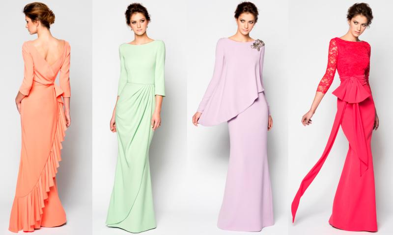 Modelos de vestidos largos en seda fria