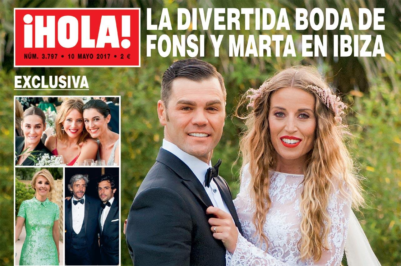 Exclusiva en ¡HOLA!: La divertida boda de Fonsi Nieto y Marta Castro en Ibiza