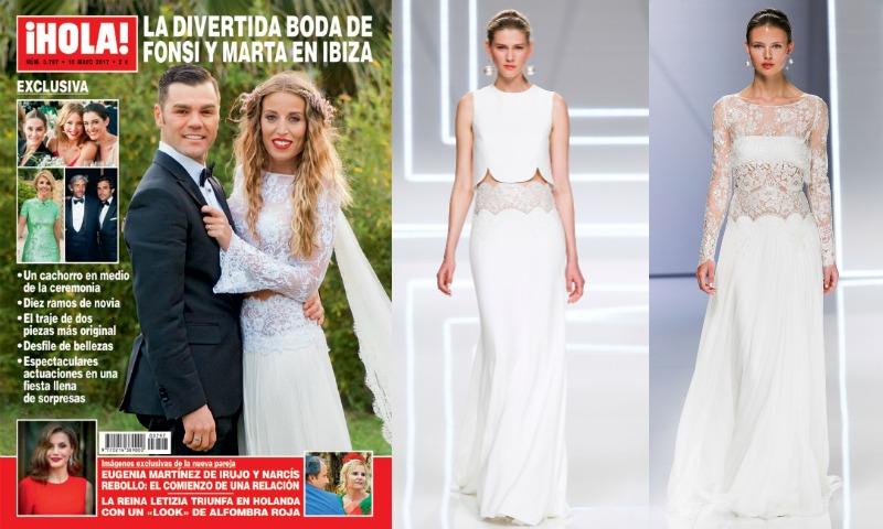 Así fue el vestido de novia romántico y 'boho' de Marta Castro
