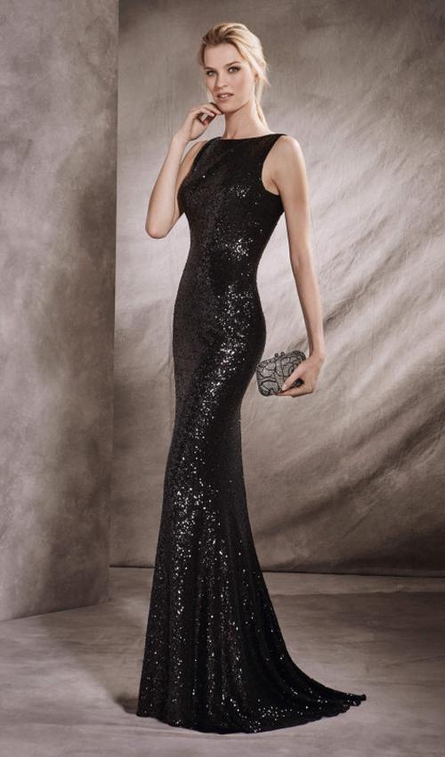 2d376d3de ... Vestido negro de lentejuelas de St Patrick ...
