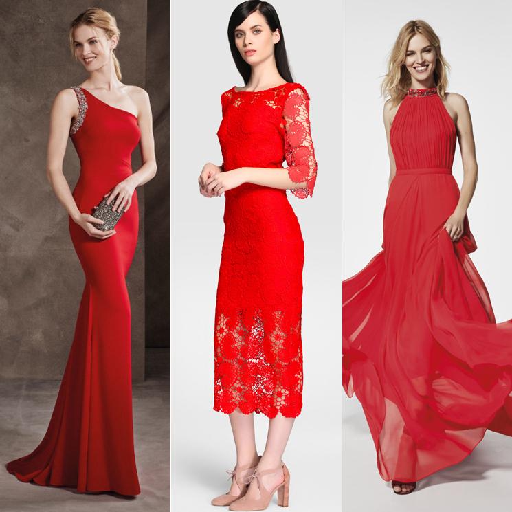 Complementos para traje rojo de fiesta