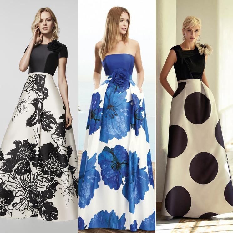 38e381a3e4 Los mejores vestidos de invitada con maxi falda estampada - Foto