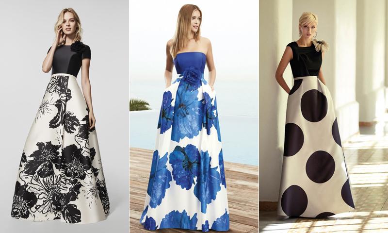 Los estampados, tendencia 'reina', también en los vestidos de fiesta de esta primavera