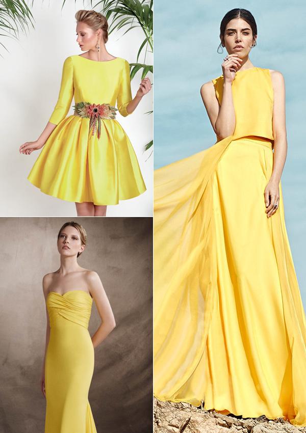 Vestido amarillo para fiesta de dia