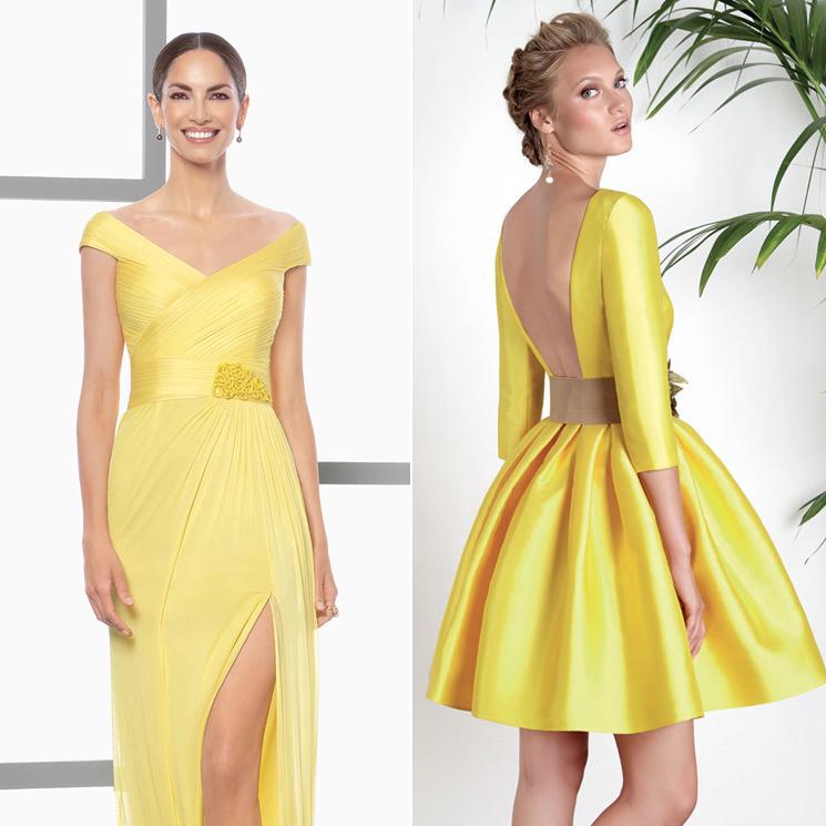 be27c11b829fc El amarillo es tendencia y estos 9 vestidos de invitada te convencerán