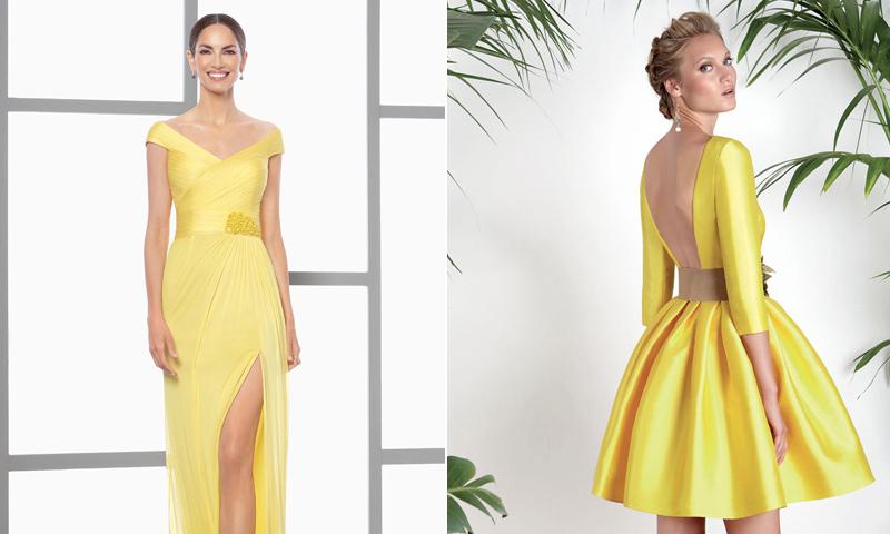 El amarillo es tendencia y estos 9 vestidos de invitada te convencerán