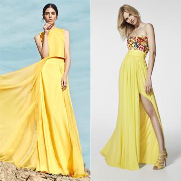 Como combinar un vestido amarillo para una boda
