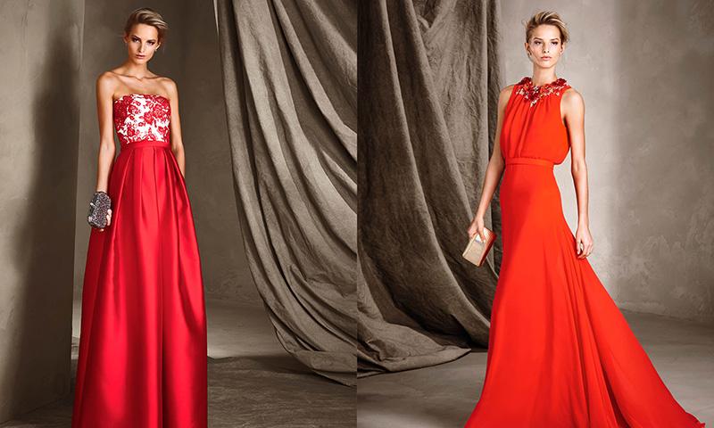 El rojo, la elegante y sofisticada apuesta de los vestidos de fiesta de Pronovias