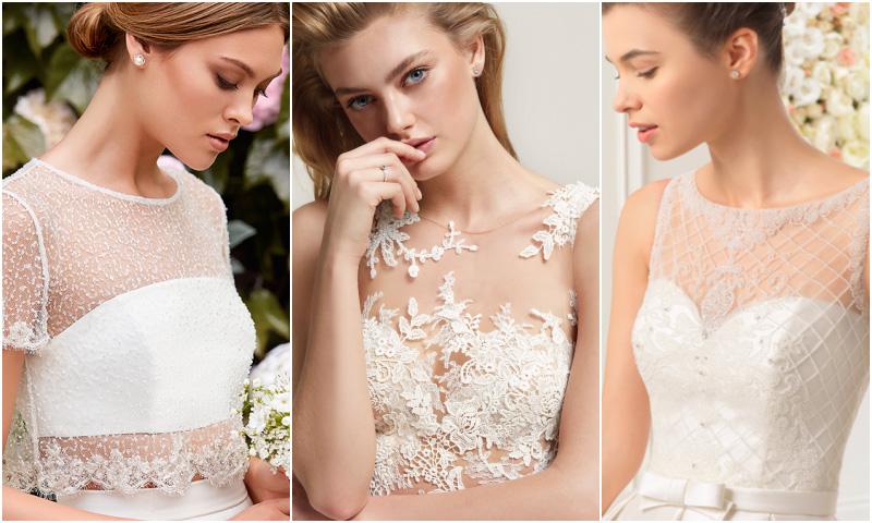 Guía de estilo: Los mejores vestidos de novia con escote ilusión ...