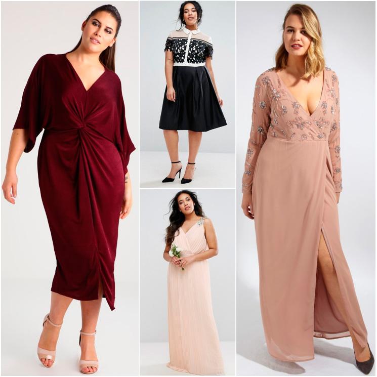 Perfectas20 De Invitadas Sobre E Size 'plus Vestidos Fiesta Curvas SzGUpqMVL