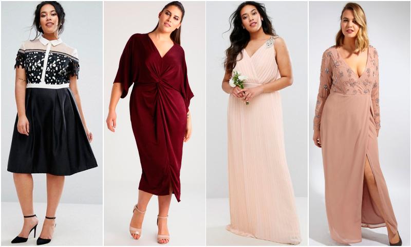 Sobre curvas e invitadas perfectas: 20 Vestidos de fiesta 'plus size'