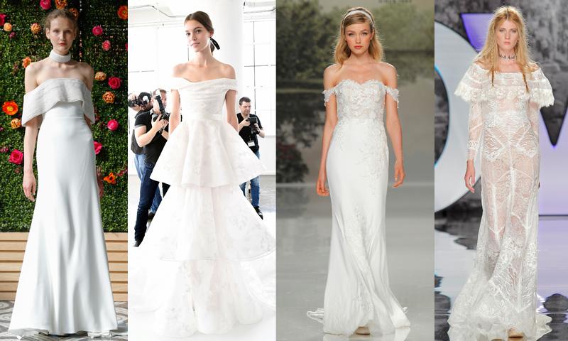 vestidos 'off-the-shoulder': novias bajo una nueva perspectiva - foto