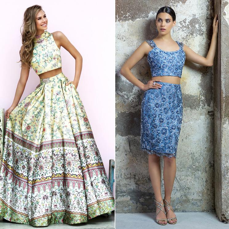 1fb1f38a8 Crop tops' y falda, ¿cómo combinarlos en tu próxima boda? - Foto