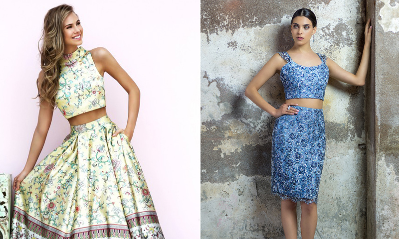 'Crop tops' y falda, ¿cómo combinarlos en tu próxima boda?