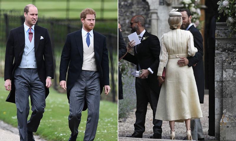 James Middleton acude junto a su novia Donna y el príncipe Harry con su hermano y sin Meghan Markle