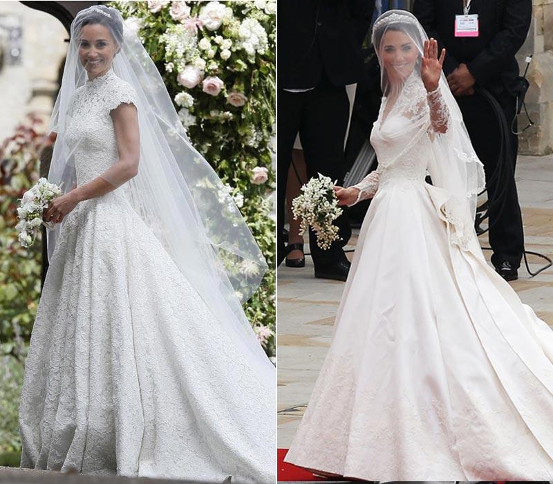 los 7 grandes parecidos entre las bodas de pippa y catherine