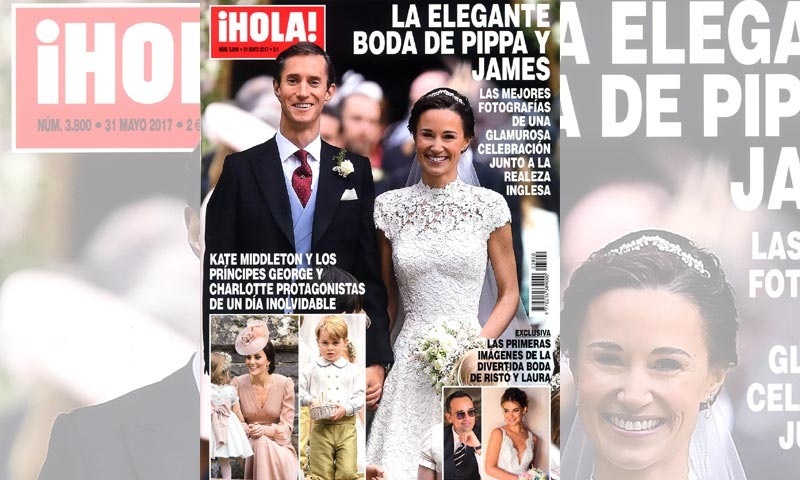 En ¡HOLA!, la elegante boda de Pippa Middleton y James Matthews