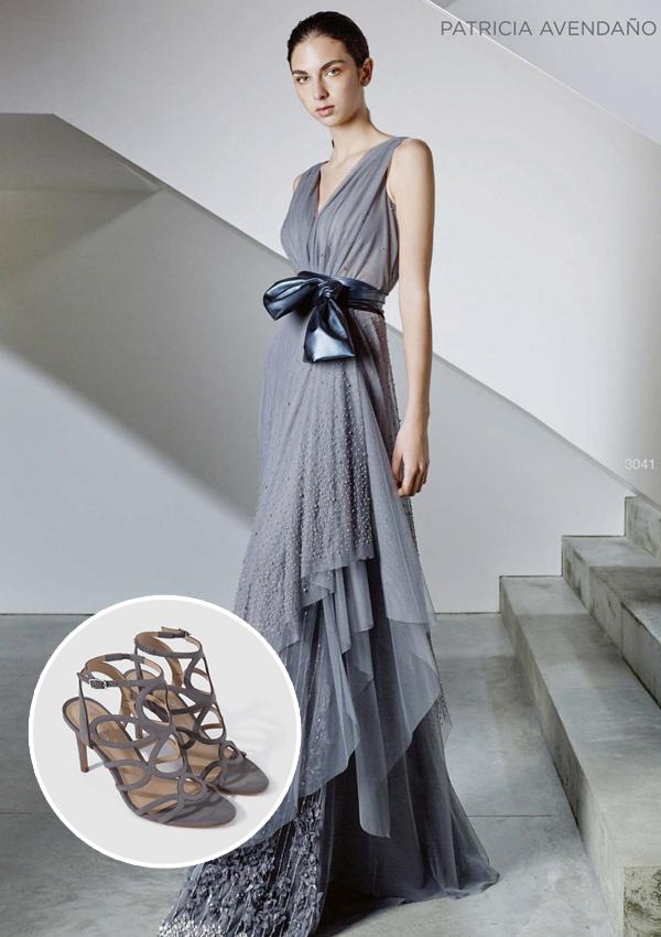 Combinar vestido gris de fiesta