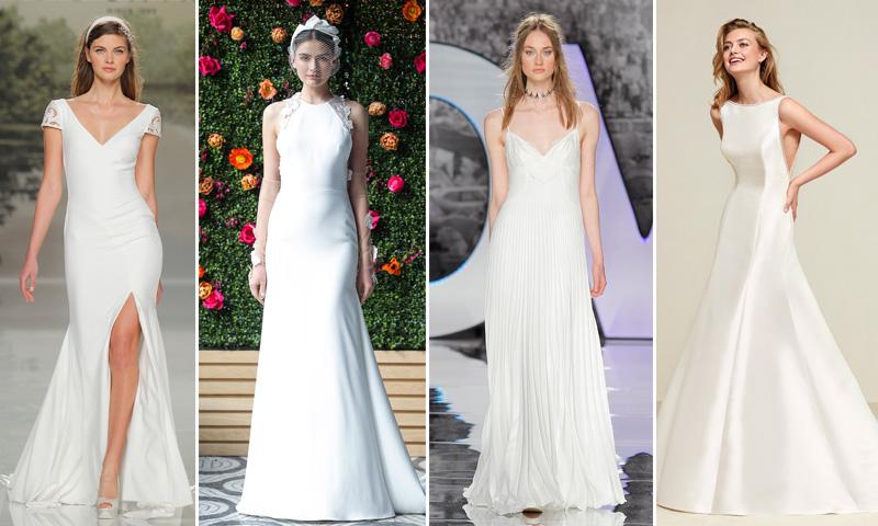 d557e4202 vestidos de novia minimalistas 2018 ...