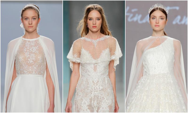 37f7b062e8 vestidos de novia con capa 2018 ...
