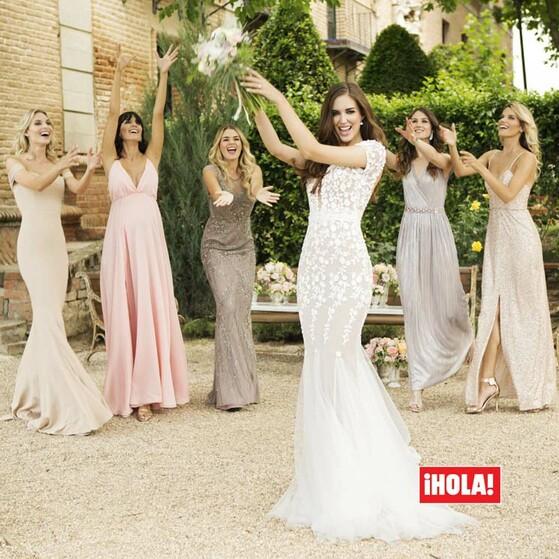 583f9e27 En ¡HOLA!, las damas de honor de Clara Alonso: así fueron los vestidos de  las íntimas amigas de la novia