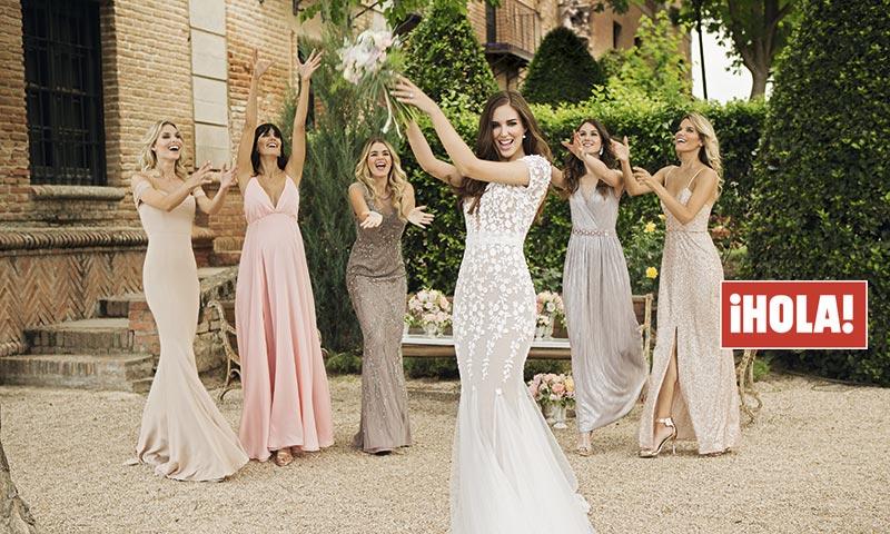 En ¡HOLA!, las 5 damas de honor de Clara Alonso: así fueron los ...