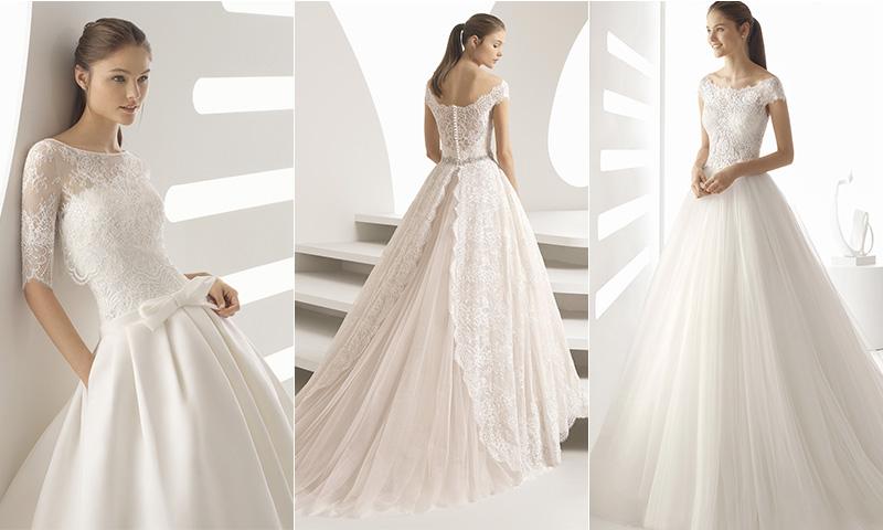 conoce los vestidos de novia de encaje y pedrería de rosa clará - foto