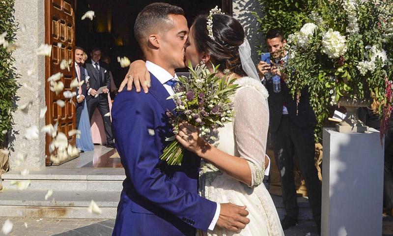 Lucas Vázquez y Macarena Rodríguez se dan el 'sí, quiero' en Madrid