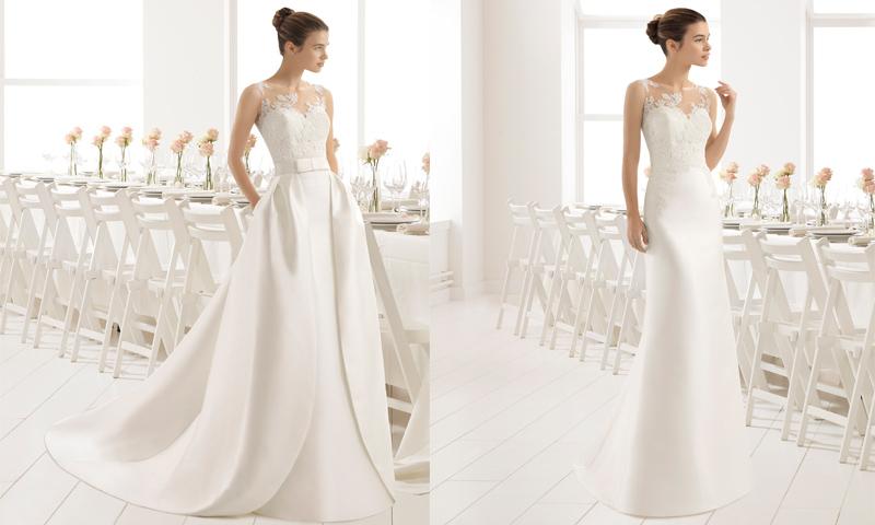 d25d1593d9 Dos en uno! 12 Vestidos de novia para un  doble look  en el día de ...