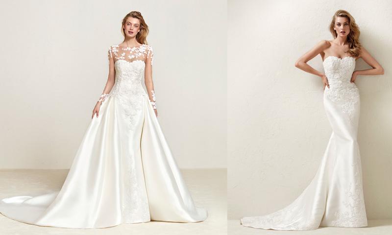 5f0f266fc Dos en uno! 12 Vestidos de novia para un  doble look  en el día de ...