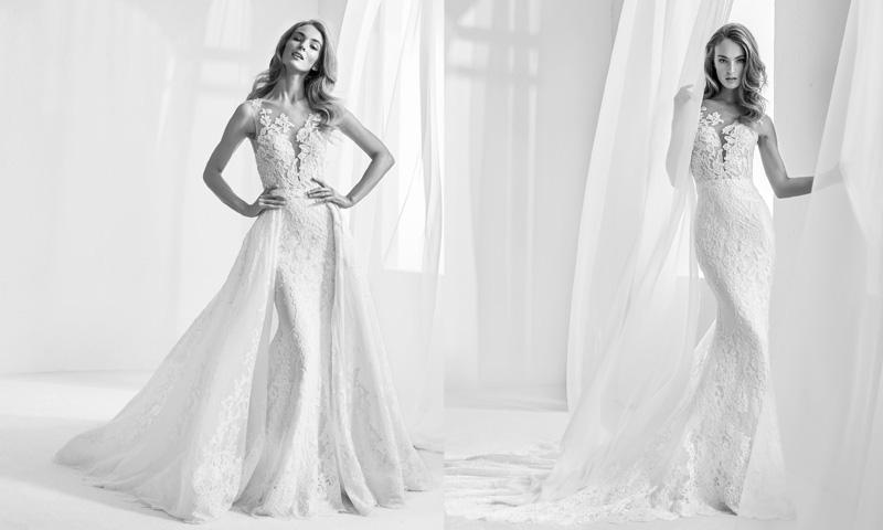 87226f4c5 Dos en uno! 12 Vestidos de novia para un  doble look  en el día de ...