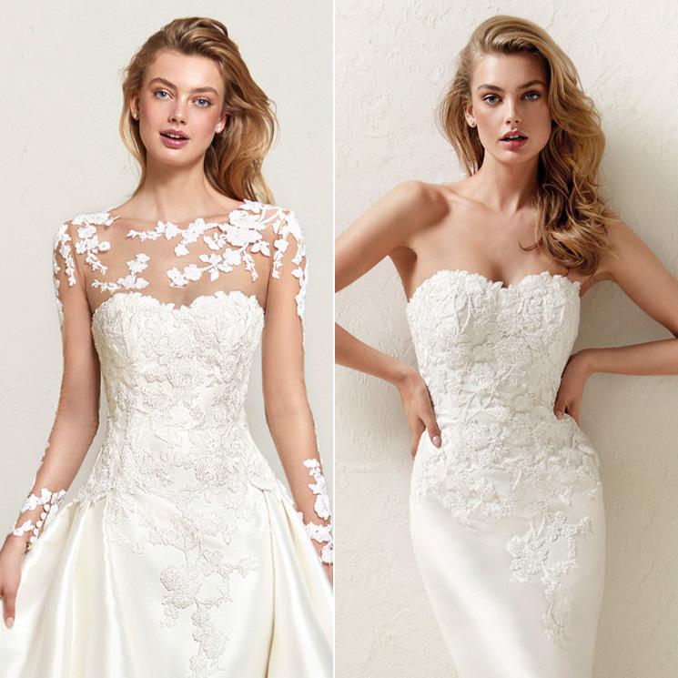 dos en uno! 12 vestidos de novia para un 'doble look' en el día de