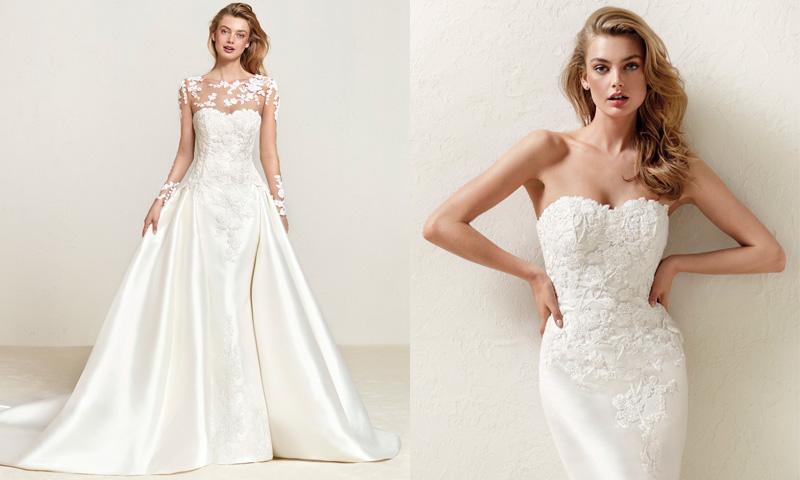 ¡Dos en uno! 12 Vestidos de novia para un 'doble look' en el día de tu boda