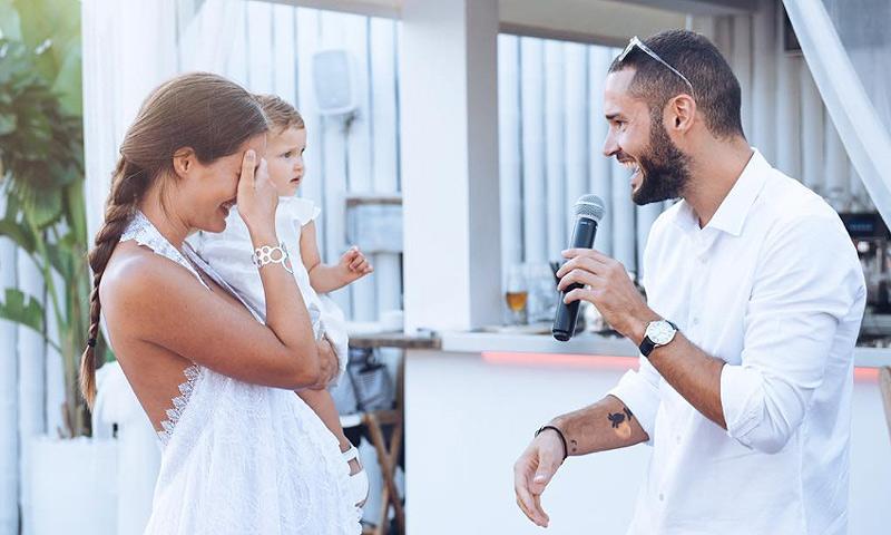 Las preciosas fotos de la boda con la que Mario Suárez sorprendió a Malena Costa