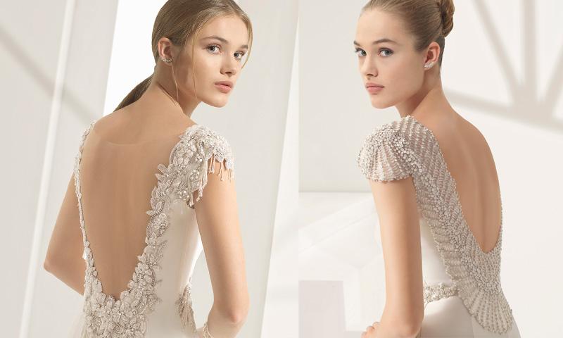 Vestidos de novia con pedreria en la espalda