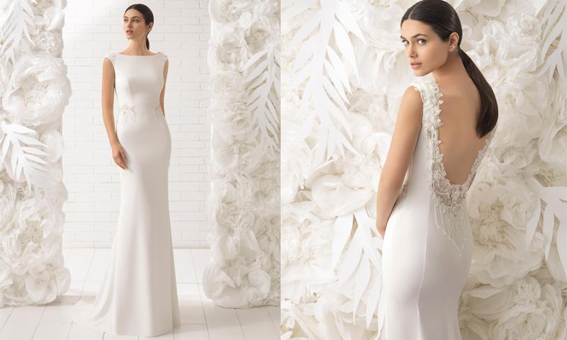 e0a08cd0a ... vestidos de novia de Rosa Clará con espalda joya ...