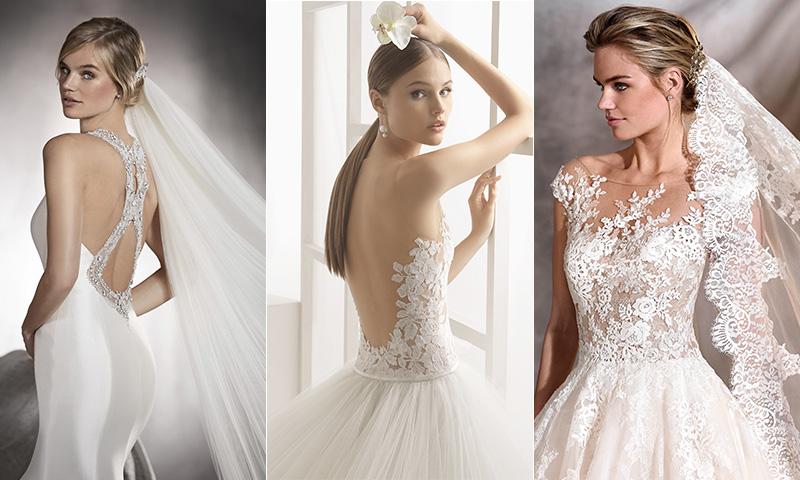 Encajes, transparencias, volúmenes... detalles imprescindibles de los vestidos de novia de 2017