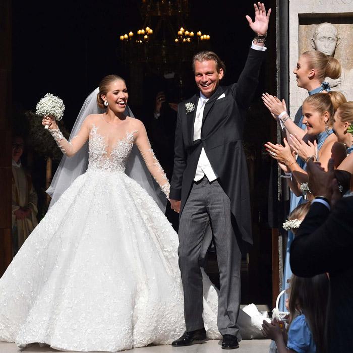 vestido de novia swarovski
