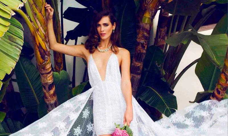 Vestido novia tipo ibicenco