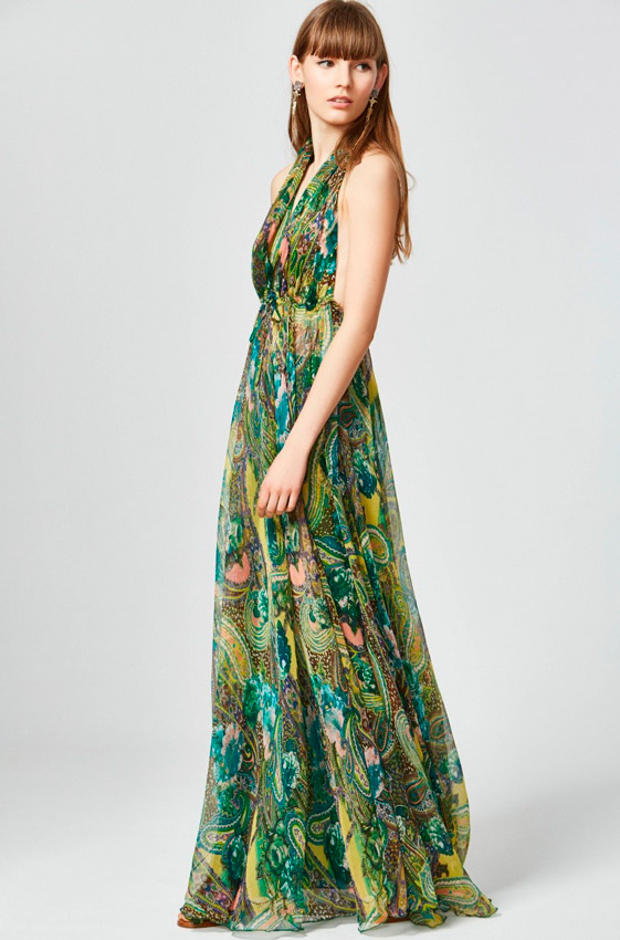 Diez vestidos de fiesta largos (¡y refrescantes!) para bodas de ...