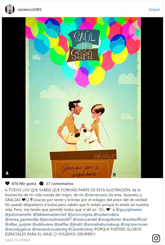 La original y divertida boda de la humorista Sara Escudero