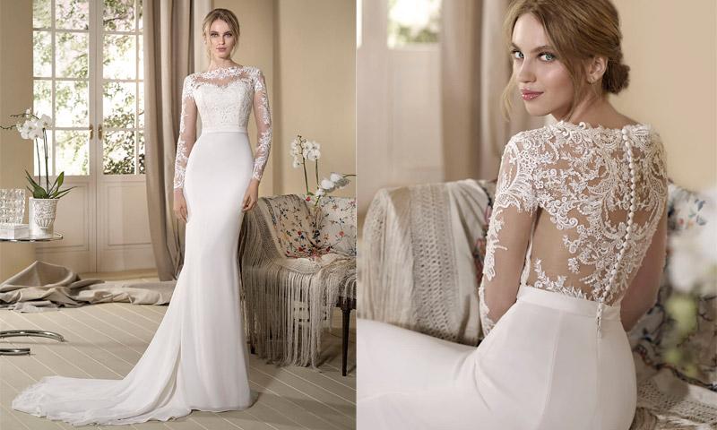 Boda en otoño? Estos 15 vestidos de novia con manga larga son todo ...